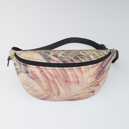 Palm Leaves in pink Fanny Pack
