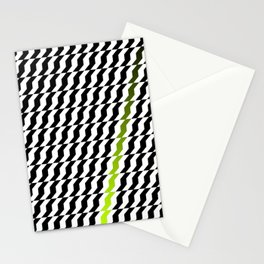 A Stripe of Green Stationery Cards