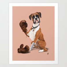 The Boxer (colour) Art Print