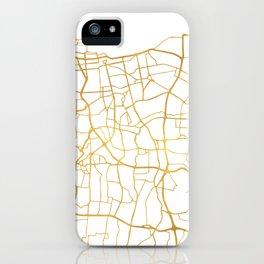 JAKARTA INDONESIA CITY STREET MAP ART iPhone Case