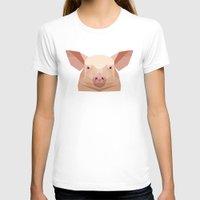 pig T-shirts featuring Pig by Alysha Dawn