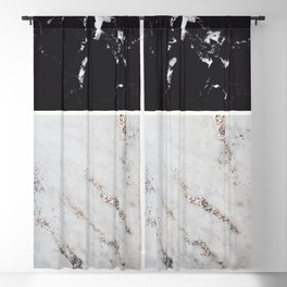 Black Marble & White Glitter Marble #1 #decor #art #society6 Blackout Curtain
