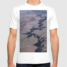 CRACKED White Mens Fitted Tee MEDIUM
