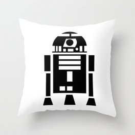 R2-D2 R2D2 Droid Wars Scifi Star Throw Pillow