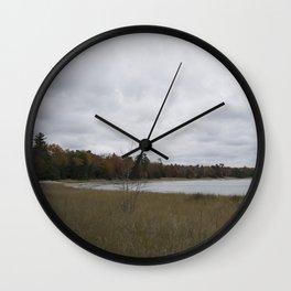Autumn at Secret Beach Wall Clock