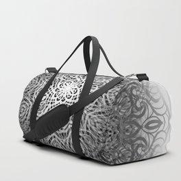 Abstract Mandala - Black Duffle Bag