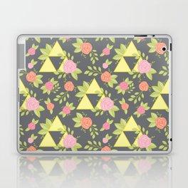 Garden of Power, Wisdom, and Courage Pattern in Grey Laptop & iPad Skin