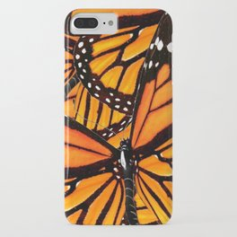 MONARCH BUTTERFLIES WING COLLAGE PATTERN 2 iPhone Case