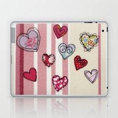 Embroidered Heart Illustration Laptop & iPad Skin