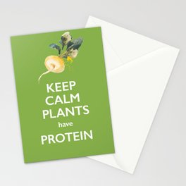 Keep Calm Plants Have Protein Stationery Cards