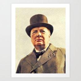 Winston Churchill, Prime Minister Art Print