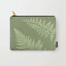 Dark olive fern Carry-All Pouch