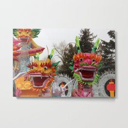 oriental dragons Metal Print