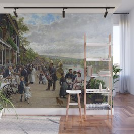 Sunday in Bas-Meudon Landscape Painting by Firmin-Girard Wall Mural