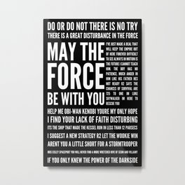 Star Wars Quotes Metal Print