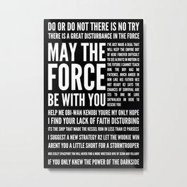 Star Wars Quotes Metal Print
