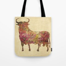 The vintage bull Tote Bag