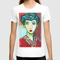 matisse T-shirts featuring LADY MATISSE IN TEEN YEARS by JANUARY FROST