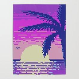 Pixel Sunset Poster