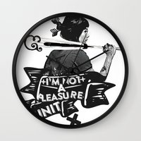 baseball Wall Clocks featuring BASEBALL by DON'T NEED NO SAMURAI