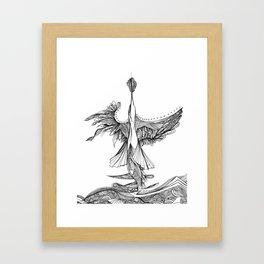 Diving bird Framed Art Print