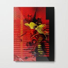 Flor kitsch I love Metal Print
