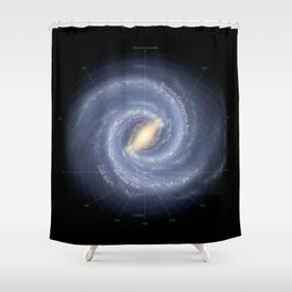 The Galaxy Milky Way Shower Curtain