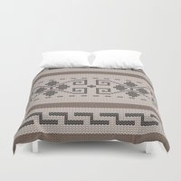 the big lebowski Duvet Covers featuring The Big Lebowski Cardigan  by Marvelis