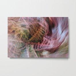 Abstract Hypnotic Garden Metal Print