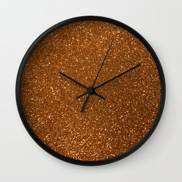 Soft Rose Gold Glitter Wall Clock