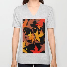 Fall Color Unisex V-Neck
