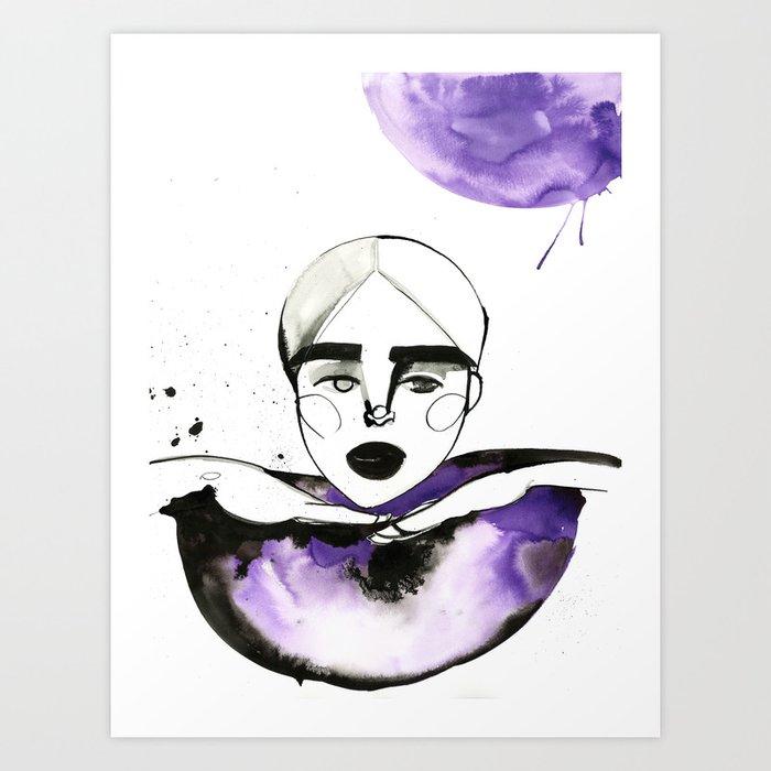 Kim-Chi posing and voguing Art Print