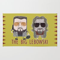 big lebowski Area & Throw Rugs featuring The Big Lebowski by Francesco Dibattista