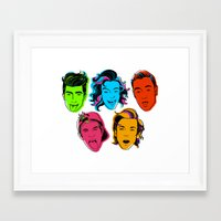 one direction Framed Art Prints featuring One Direction by GirlApe