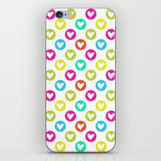 Colorful hearts  iPhone Skin
