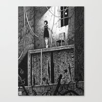 theatre Canvas Prints featuring Puppet Theatre by Michael Brack