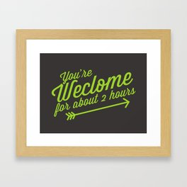 Welcome Mat Framed Art Print