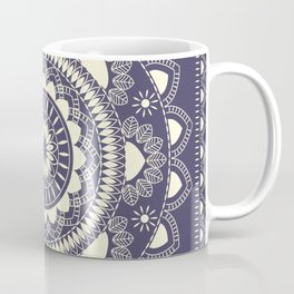 Boho Indian medallion Blue Coffee Mug