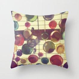 Colours rain Throw Pillow