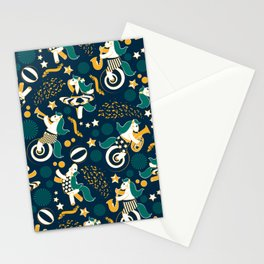 Equestrian modern circus Stationery Cards