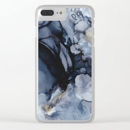 Black Marble Clear iPhone Case