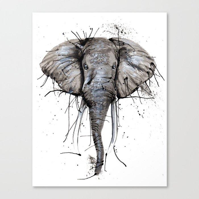 Elephantish Canvas Print