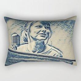 Swift Taylor Artistic Illustration Waves Style Rectangular Pillow