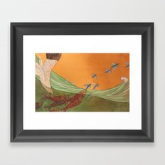 A Change in Tide Framed Art Print