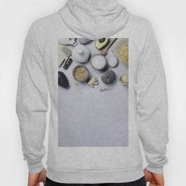 Natural SPA concept on grey concrete background Hoody