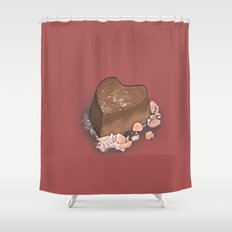 Valentine's Day with Sea Salt (Single Chocolate) Shower Curtain