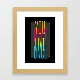 Simple YOLO Cascade Framed Art Print