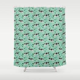 Terrazzo Holsteins // Mint Shower Curtain