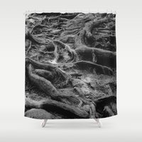 daria Shower Curtains featuring Roots by Dar'ya Vlasova