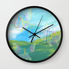 """"""" Butterflies In The Clearing """" Wall Clock"""